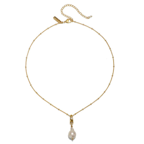 Imogen Pearl Drop Short Pendant Necklace