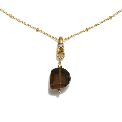Free Spirit Smoky Quartz Crystal Short Necklace