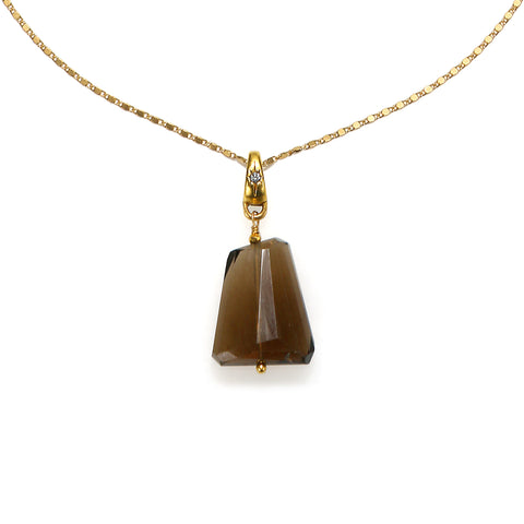 Free Spirit Smoky Quartz Crystal Long Necklace