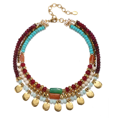 Frida Triple Strand Necklace