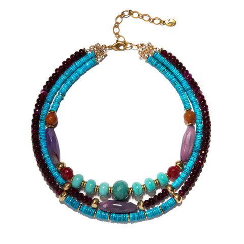 Gabriella Triple Strand Necklace