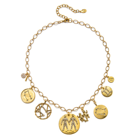 Gemini Super Zodiac Star Maps Necklace