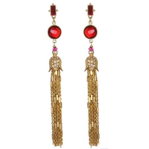 Goa Tassel Drop Earrings
