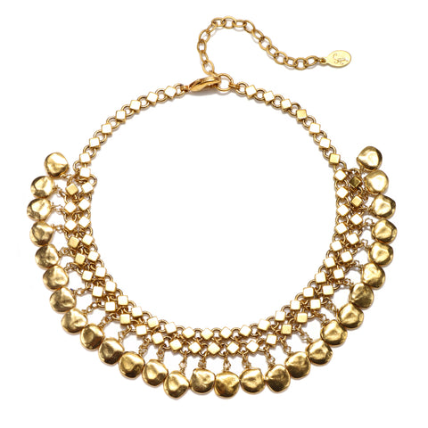Gold Nugget Choker Necklace
