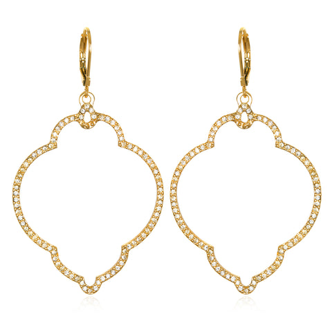 Gold Samba Lever-Back Earrings