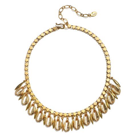 Golden Cowrie Choker Necklace