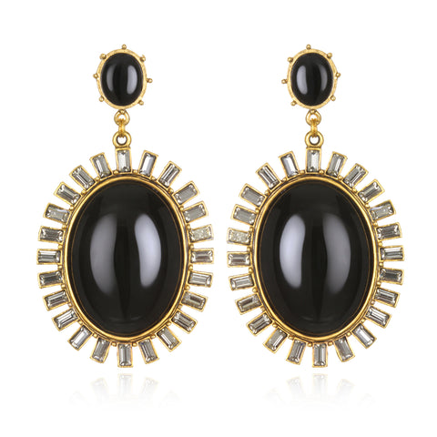 Hall of Mirrors Earrings - Black Onyx
