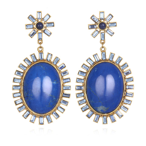 Hall of Mirrors Earrings - Blue Jade