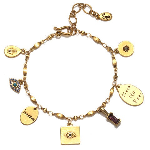 """Have No Fear"" Multi Charm Bracelet"