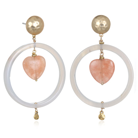 Heart Doorknocker Earrings