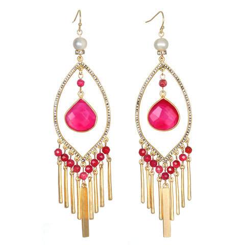 Hibiscus Drop Earrings