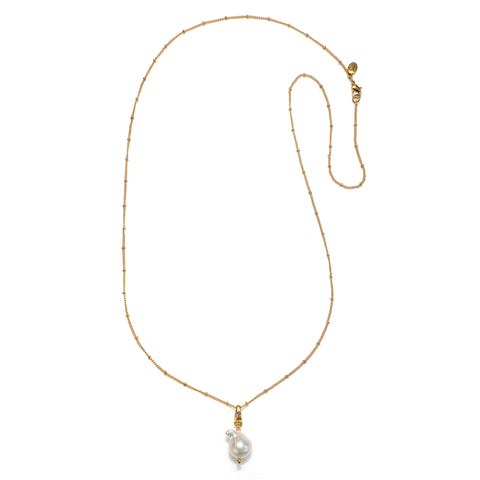 Imogen Pearl Drop Long Pendant Necklace