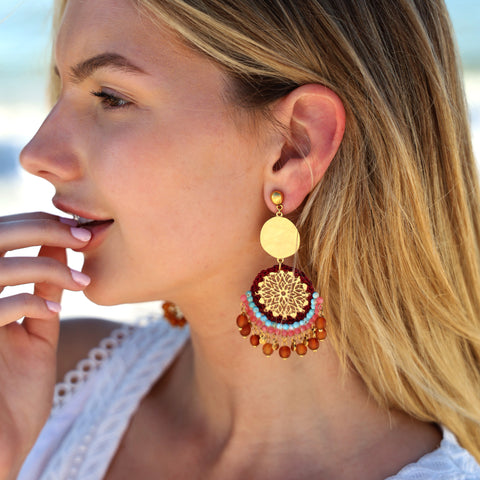 Isa Artisan Statement Earrings