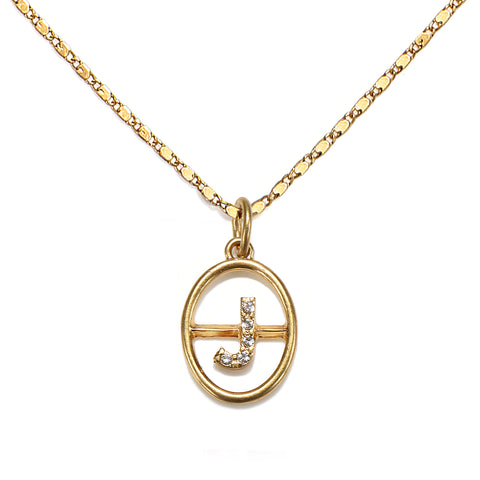 """J"" Chloe Initial Talisman Necklace"