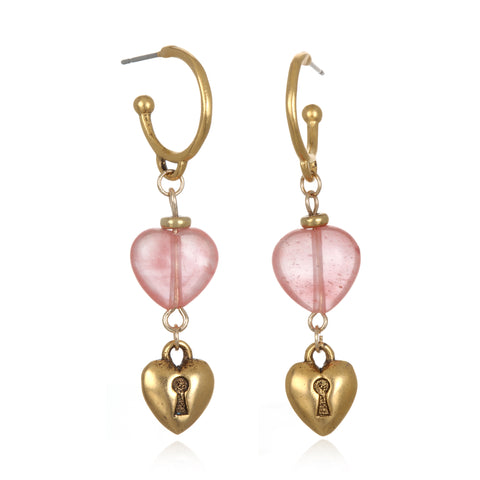 Keepsake Heart Drop Earrings