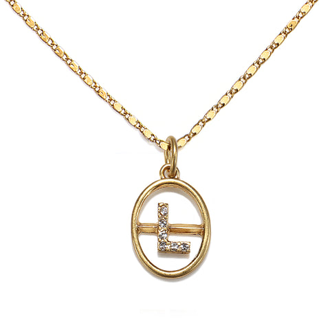 """L"" Chloe Initial Talisman Necklace"