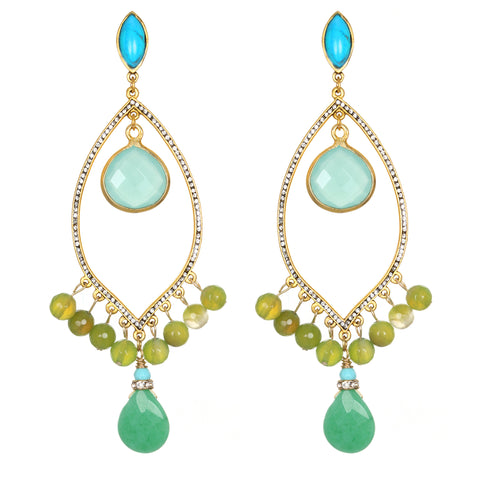 Lagoon Drop Earrings