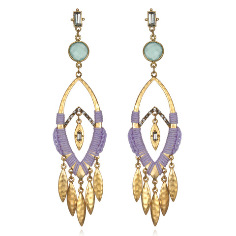Lavender Roatan Chandelier Earrings