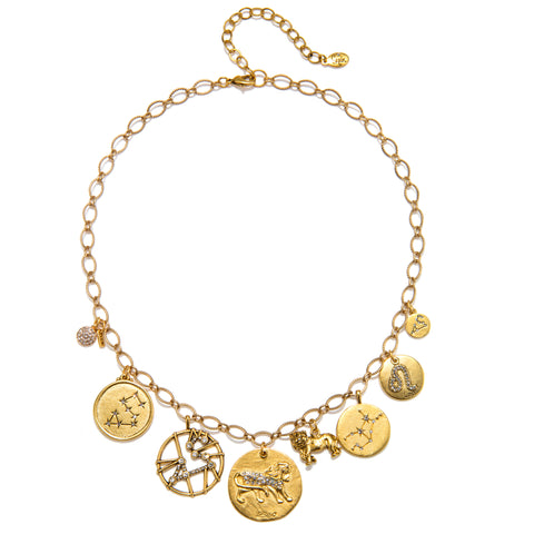 Leo Super Zodiac Star Maps Necklace