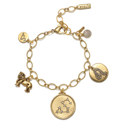 Leo Super Zodiac Star Maps Bracelet