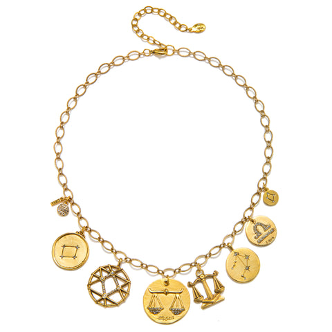 Libra Super Zodiac Star Maps Necklace