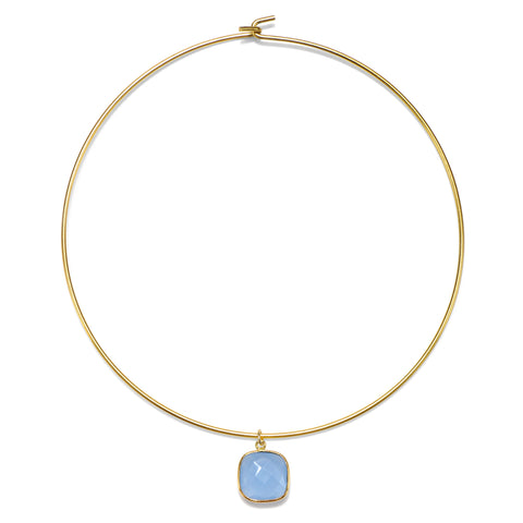 Light Blue Cannes Choker Necklace