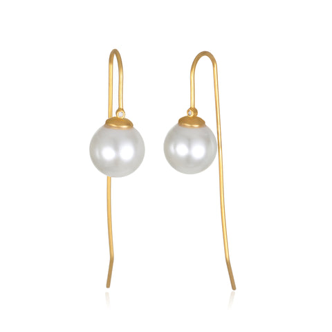 Lillian Pearl Threader Earrings