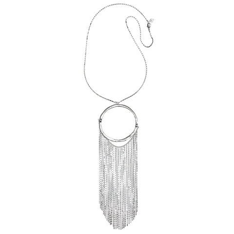 Liquid Fringe Long Pendant Necklace