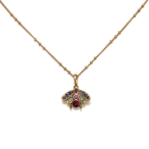 Little Bee Charm Necklace