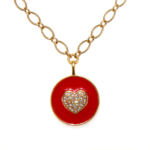 Love Enamel Talisman Necklace