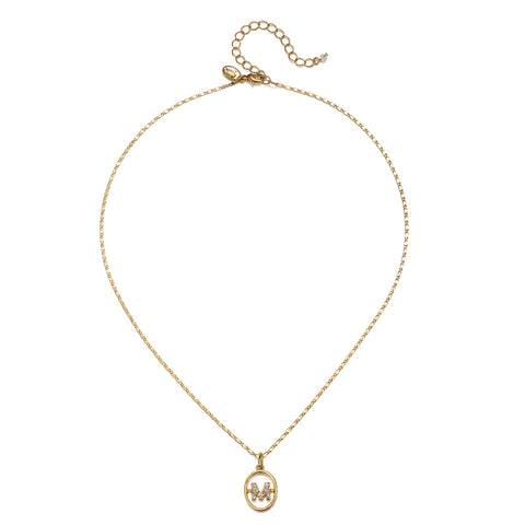 """M"" Chloe Initial Talisman Necklace"