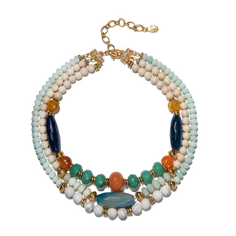 Mariela Triple Strand Necklace