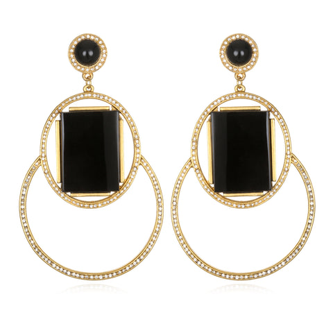Marquesas Drop Earrings - Black Onyx