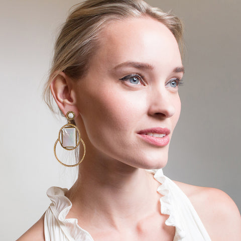 Marquesas Drop Earrings - Mother of Pearl
