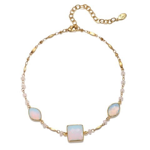 Mediterranean Moonstone Choker Necklace