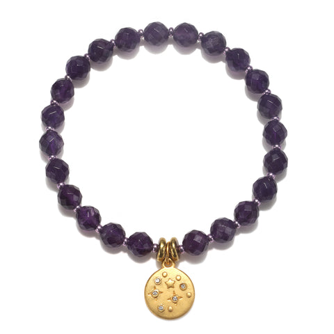 Mini Celestial Purple Color Karma Bracelet