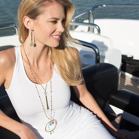 Mint Color Karma Halo Necklace