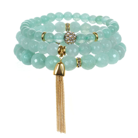 Mint Color Karma Bracelet Set