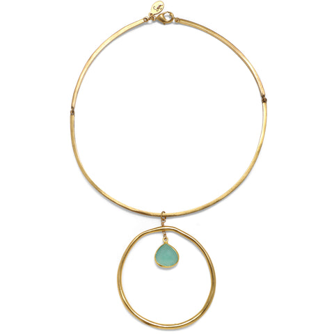 Mint Halo Choker Necklace