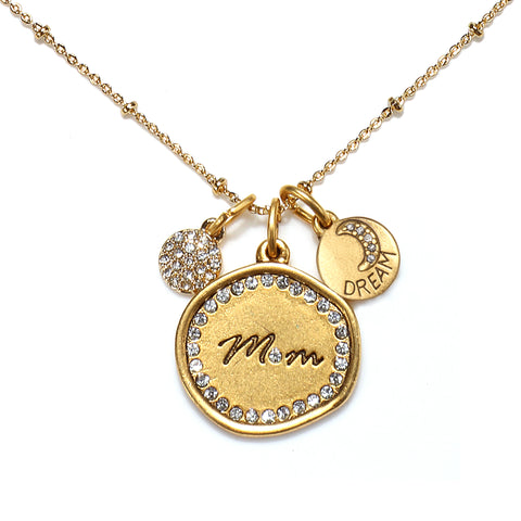 """Mom"" Talisman Necklace"