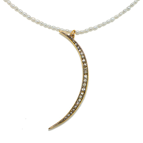 Moon Mother Pearl Necklace