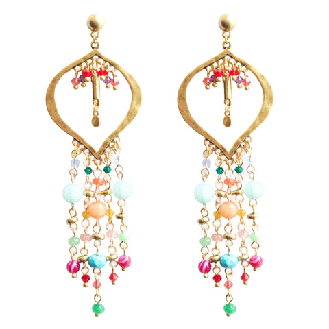 Multicolor Ibiza Chandelier Earrings