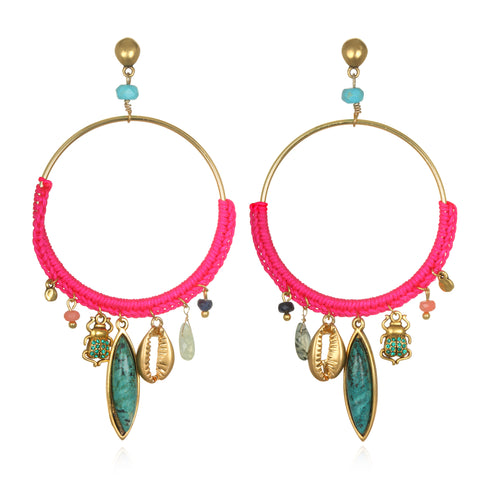 Neon Daydream Talisman Earrings