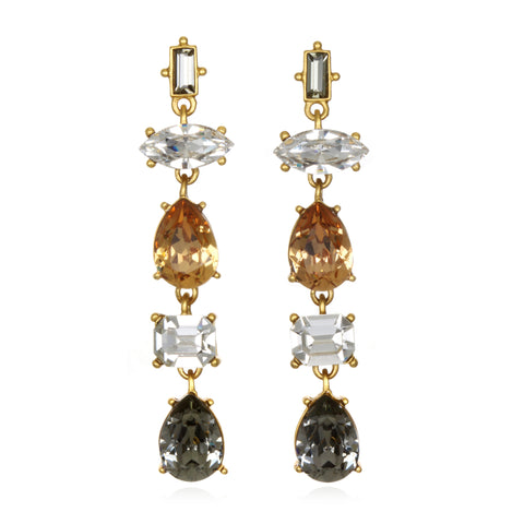 Neutral Gem Cut Earrings