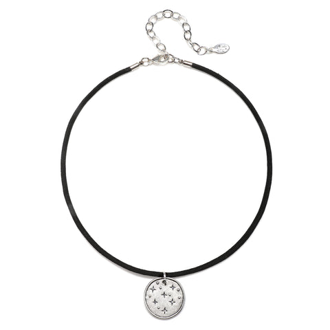Night Sky Talisman Choker Necklace - Suede Cord