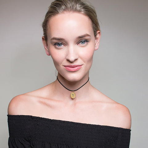 North Star Talisman Choker Necklace - Suede Cord