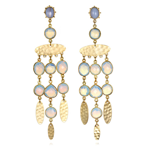 Opal Gypset Chandelier Earrings