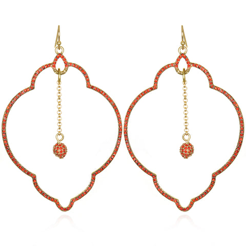 Orange Samba Drop Earrings