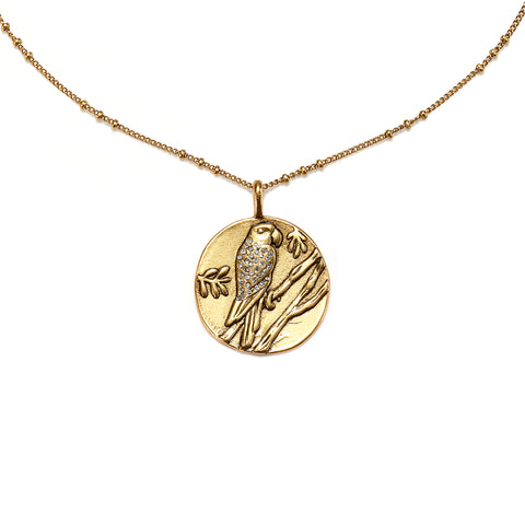 Parrot Medallion Charm Necklace