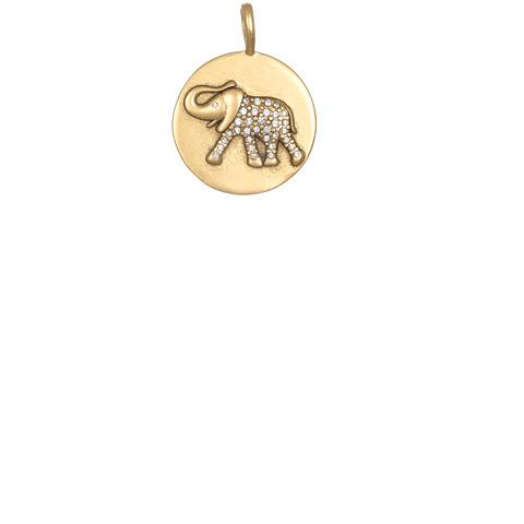 Pave Elephant - Gold